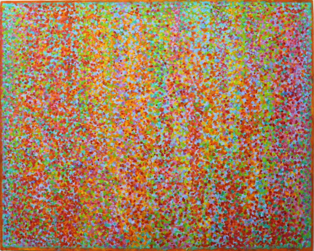 'Giverny 3' acryic on canvas 220 89x71cm