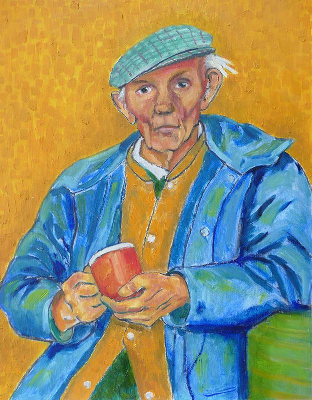 Tea Break / oil / 45 x 35 cm