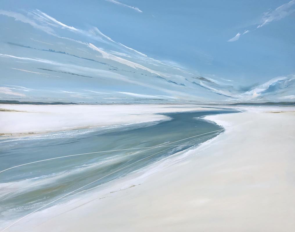Curlews calling over the Estuary, oil on canvas, 80x100cm