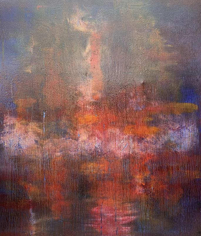 Imploded enigma Oil on Canvas 110cm x 110cm