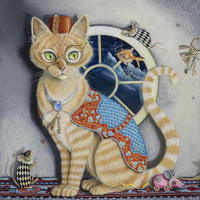 One Cool Cat... / Oil & Acrylic / 350MM x 350MM