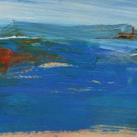 Looking towards St. Ives.  Acrylic