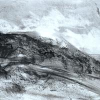 View from Porthmeor Beach.  Charcoal