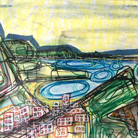 Lulworth Cover - mixed media