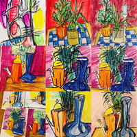 Selection of Vases - mixed media pieces
