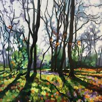 'First Day of Spring' Acrylic on Canvas, 50cmx50cm, SOLD