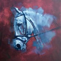 The Silver Ghost - Oil - 50 x 50 on box canvas £295