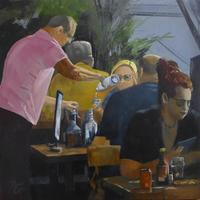 Another bottle? - Oil - 50 x 50 on box canvas £395