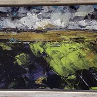 Abstracted landscape - Acrylic on board, 34cm x 25cm