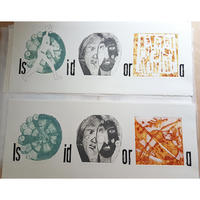 Isidora / Collagraph with woodblock type