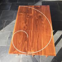 3 in 1 Spiral Coffee Tables in Walnut and Ash 1000mm x 1500mm x 300mm