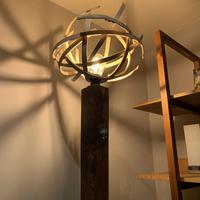 Standard lamp in Walnut and Ash 2m