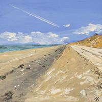 West Wittering Dunes, Acrylic on board, 18cm / 18cm