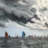Round The Island Race / Pastel on Paper