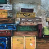 Suitcases / Oil on Canvas