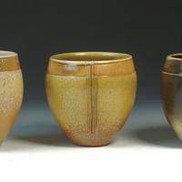Bowl vases / Stoneware / 14 and 15 cm tall