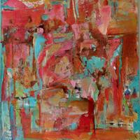 The Excavation/Mixed Media on Canvas/77x51cm