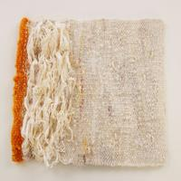 No title, tapestry woven textile with silk string