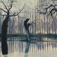 Park Life 4: Ice on Water/Oil on Canvas/500mm x 600mm