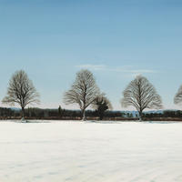 Winter: The Road To Ashampstead/Oil on Canvas/600mm x 800mm