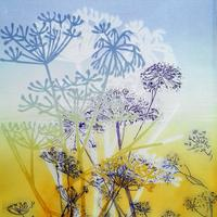 Corn Parsley  Drypoint and Block Print 38 x 32 cms