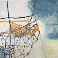 Playpark III Collagraph and Block Print 87 x 62 cms