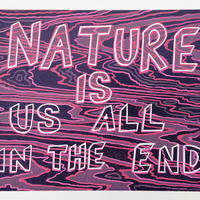 Nature, 2020, limited edition reduction woodcut, 28x38cm