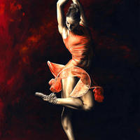 The Passion of Dance / Oil on canvas / 61cm x 91cm
