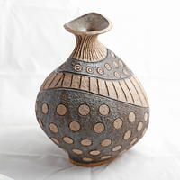 Spots and Stripes / coiled stoneware/34cm
