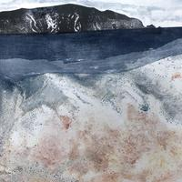 Isle of Wight with red sand  Mixed Media Print  46 x 36cm