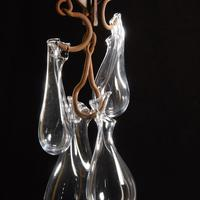 Suspended Tension, Blown glass and metal