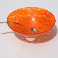 Sambal Bowl, Glass with Silver spoon