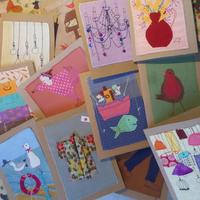 Stitched sketch cards - 7 x 5 in