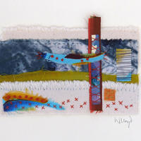 Flying, small stitched piece