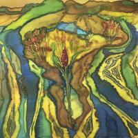 Garden of Eden - silk Painting - 290 x290 mm limited edition prints