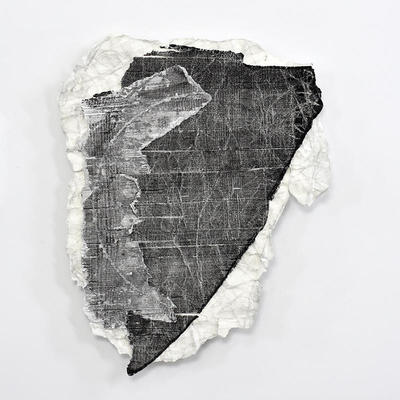 Lockdown Fragments No.69 | paper mounted on aluminium | 42x36x2cm