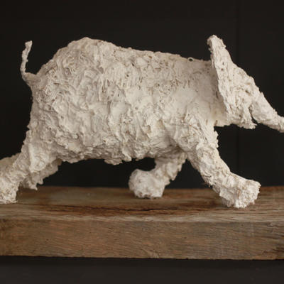 "On the Move/Plaster and hessian/18"" long"