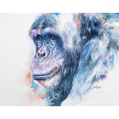 """""""Wise One"""" w'colour on paper 10x14"""" £130 unframed"""