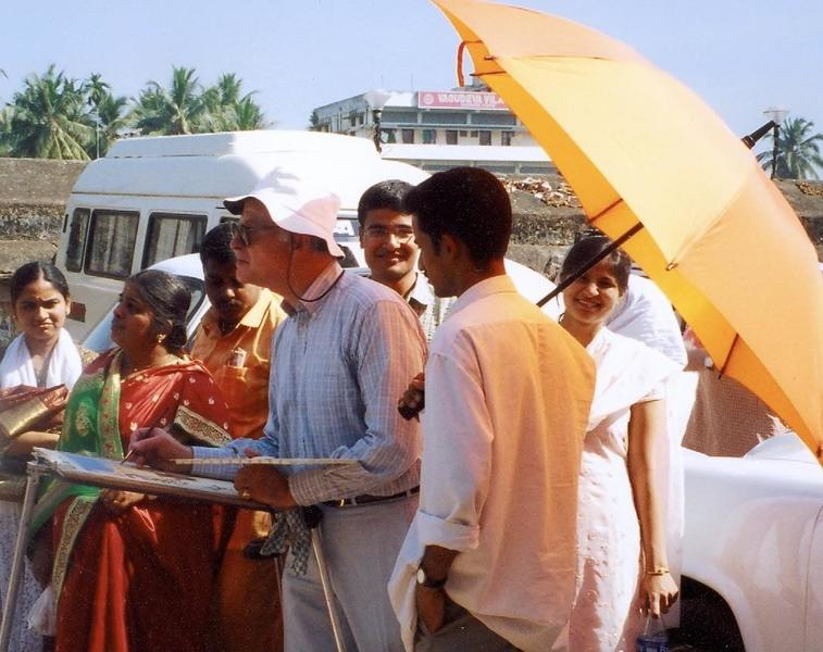 On location in Trivandrum, Kerala