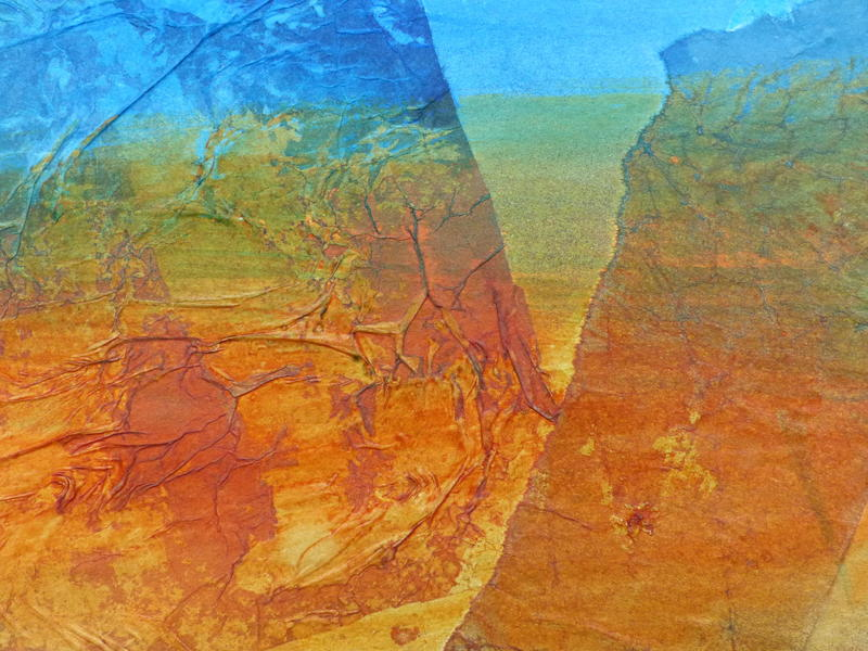 Travels in Ethiopia I - Mixed Media