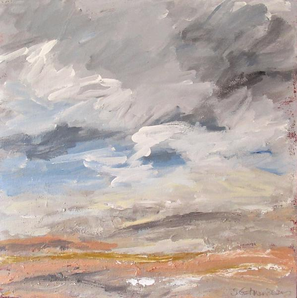 March-passing Showers  acrylic 30x30 cm