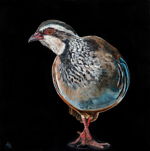 Cautious Steps - Oil on canvas 76cm x 76cm