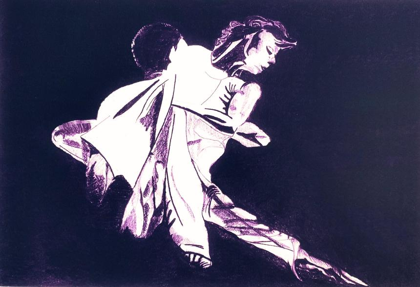 Dance - digital enhance from my original negative space drawing