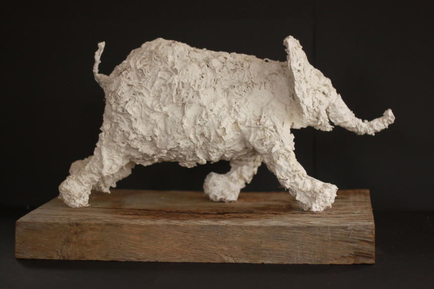 """On the Move/Plaster and hessian/18"""" long"""