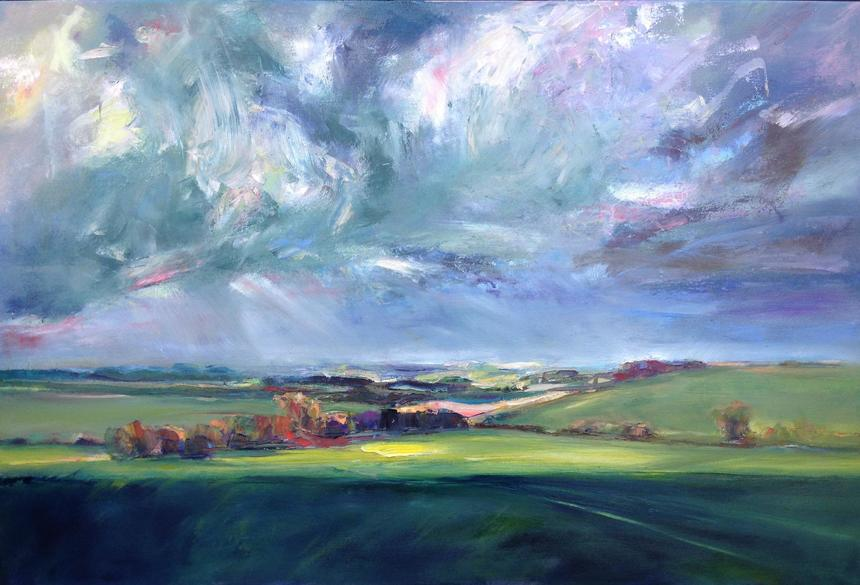 """Wiltshire Shadow, oil on canvas, 36""""x24"""""""