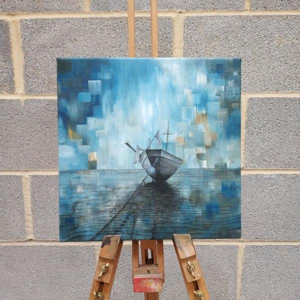 Pixelated series- oil on canvas