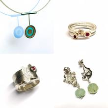 Silver jewellery made by students